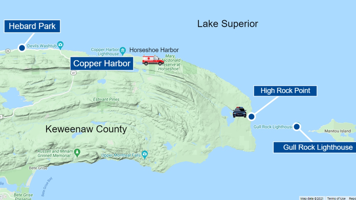 A man who went swimming at Hebard Park was carried 15 miles in the Lake Superior current, to...