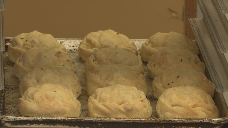 Jean Kay's makes new batches of homemade pasties every day.