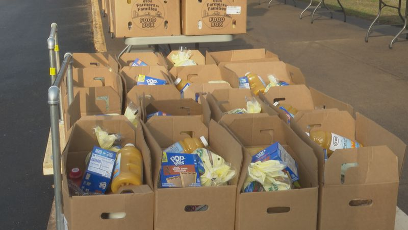 Silver Creek, partnering with Feeding America, provides a food distribution every month for the...