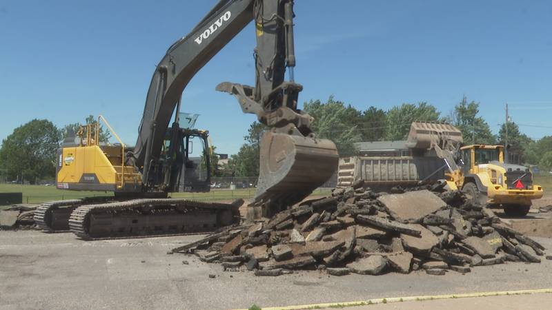 MSHS parking lot renovations are planned to be done by mid-August.