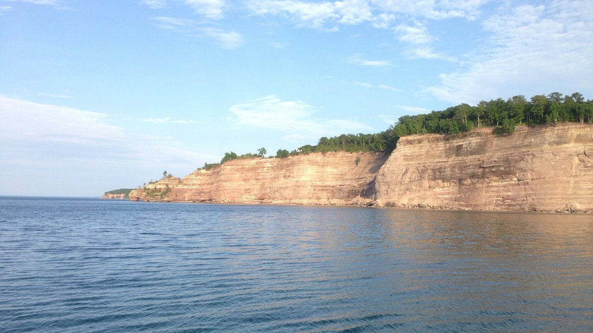 Part of Pictured Rocks National Lakeshore, as seen from Lake Superior. (WLUC Photo)