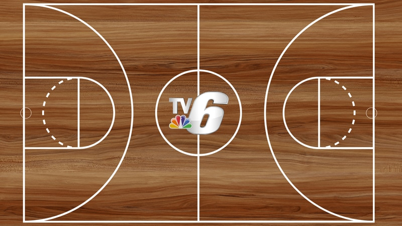 TV6 basketball court graphic.