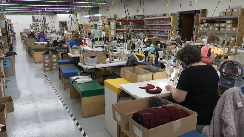 Some workers make Stormy Kromer's original cap at its factory in Ironwood.