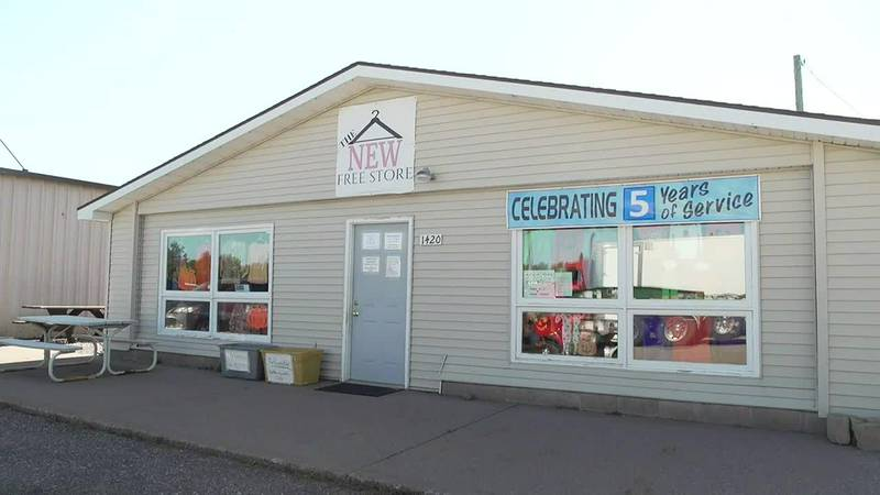 Outside shot of The New Free Store in Marquette County.