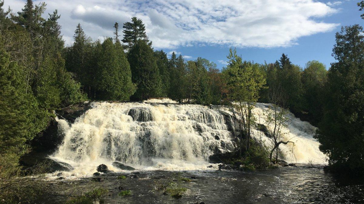 Bond Falls, near Paulding, Michigan. (WLUC File Photo)