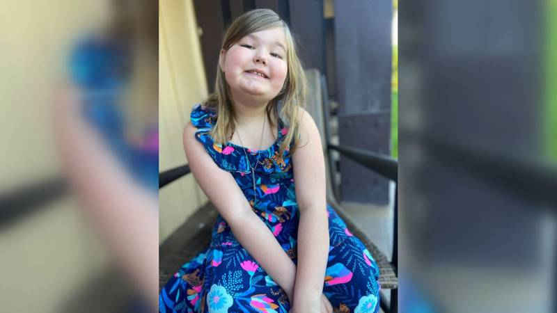 Kambria Grenfell, 10, was diagnosed with DIPG - a rare form of brain cancer.