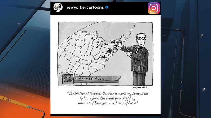 Instagram's @newyorkercartoons graphic showing Upper Michigan as part of Wisconsin. The cartoon...
