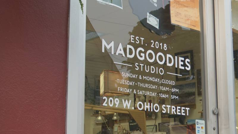 Madgoodies Studio is located on Ohio Street in Marquette in between Third and Fourth Streets.