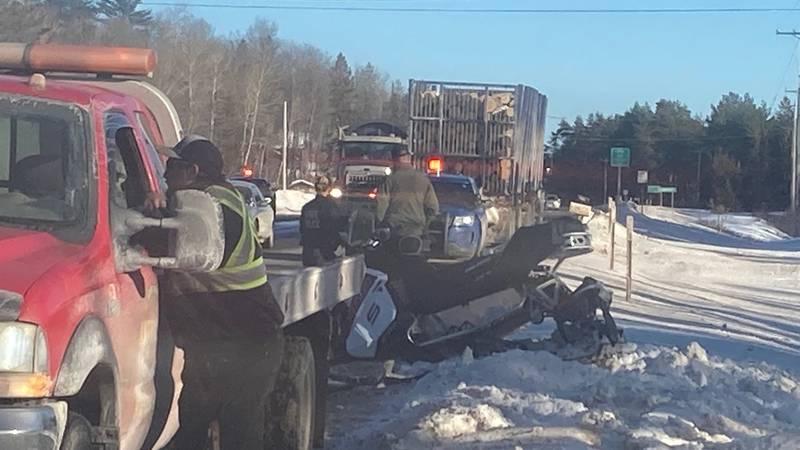 scene of crash on US-41 just east of Koski Corners in Champion Twp.