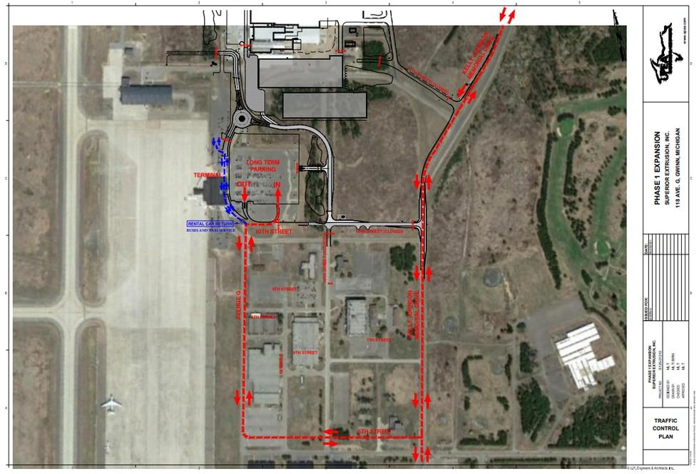 Map courtesy of Sawyer International Airport.