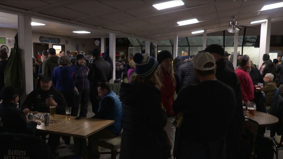 Longtime supporters of the ski hill welcomed the new owners at a last minute celebration in the lodge tonight.