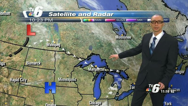 Becoming mostly cloudy in the afternoon with scattered rain showers and few thunderstorms