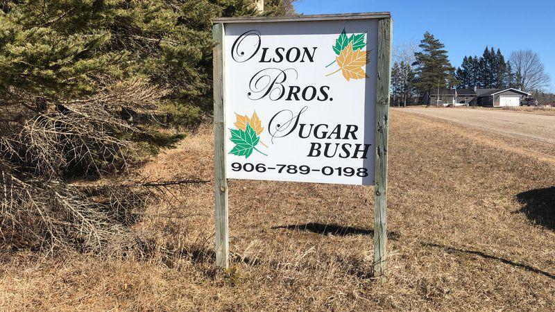 Olson Brothers Sugar Bush sign.