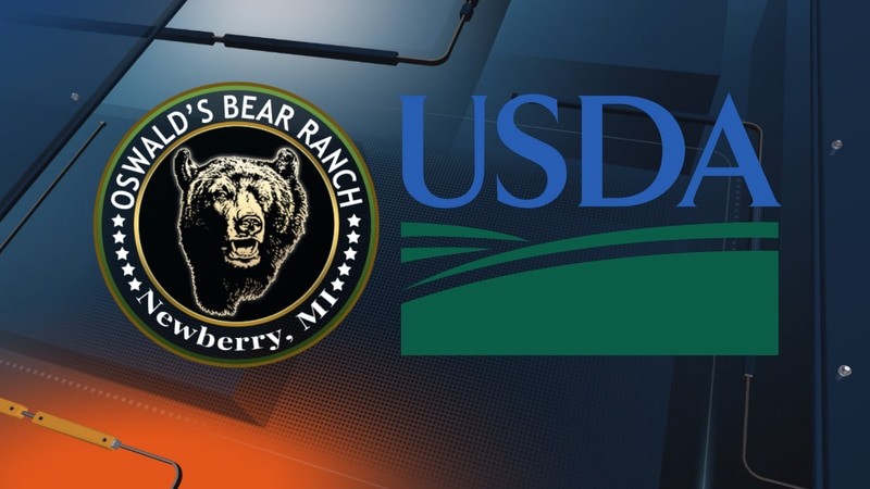 Oswald's Bear Ranch and USDA logos.