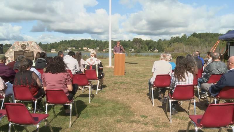 KBIC President Chris Swartz speaks about the Jondreau Decision during Monday's event.