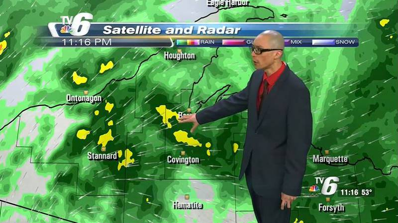 Soggy start to Monday morning accompanied by howling winds over 25 mph.