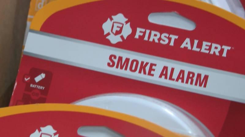 A First Alert smoke detector.