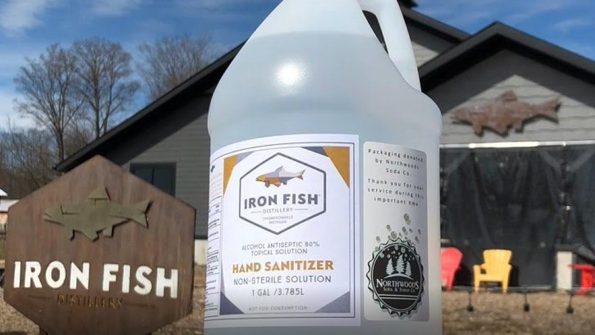 Within a week, over one hundred gallons of hand sanitizer were ordered. (Iron Fish Photo)