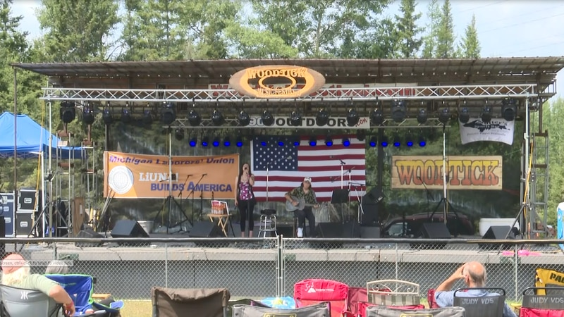 Dozens gather for the first Woodtick Music Festival since 2019