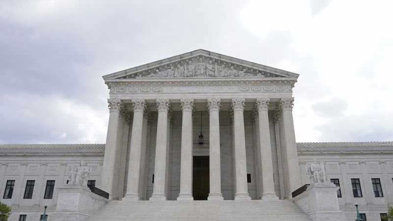 This photo shows the Supreme Court in Washington, Thursday, April 22, 2021.