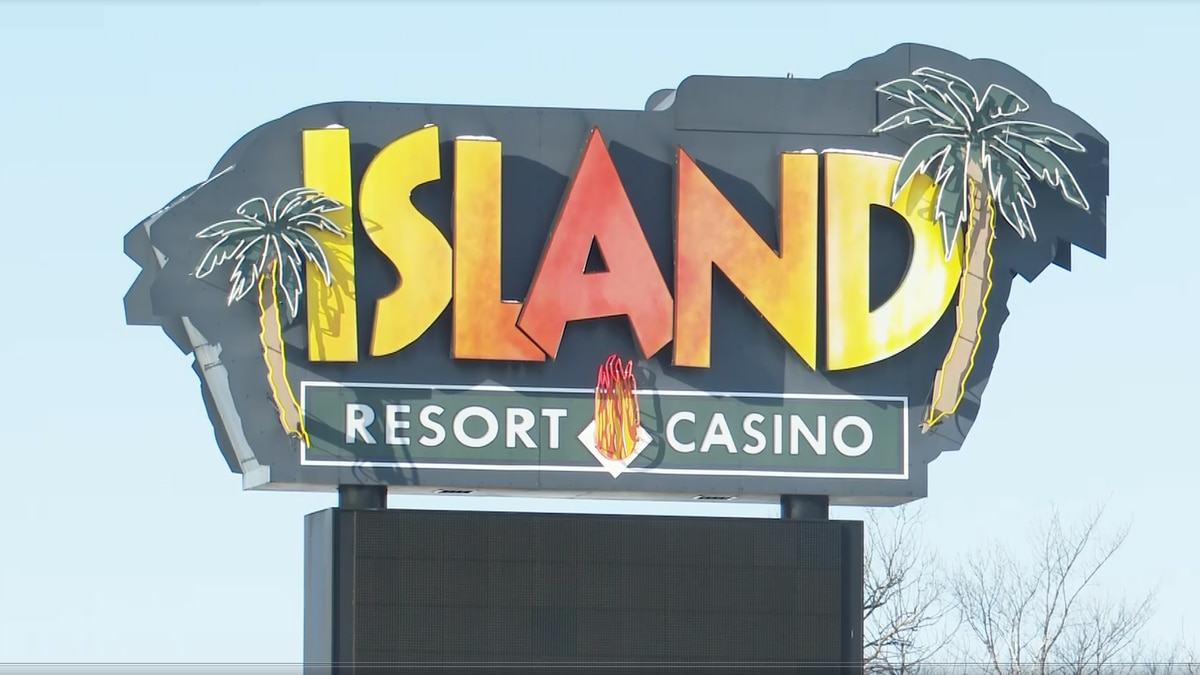 Island Resort and Casino sign. FILE.