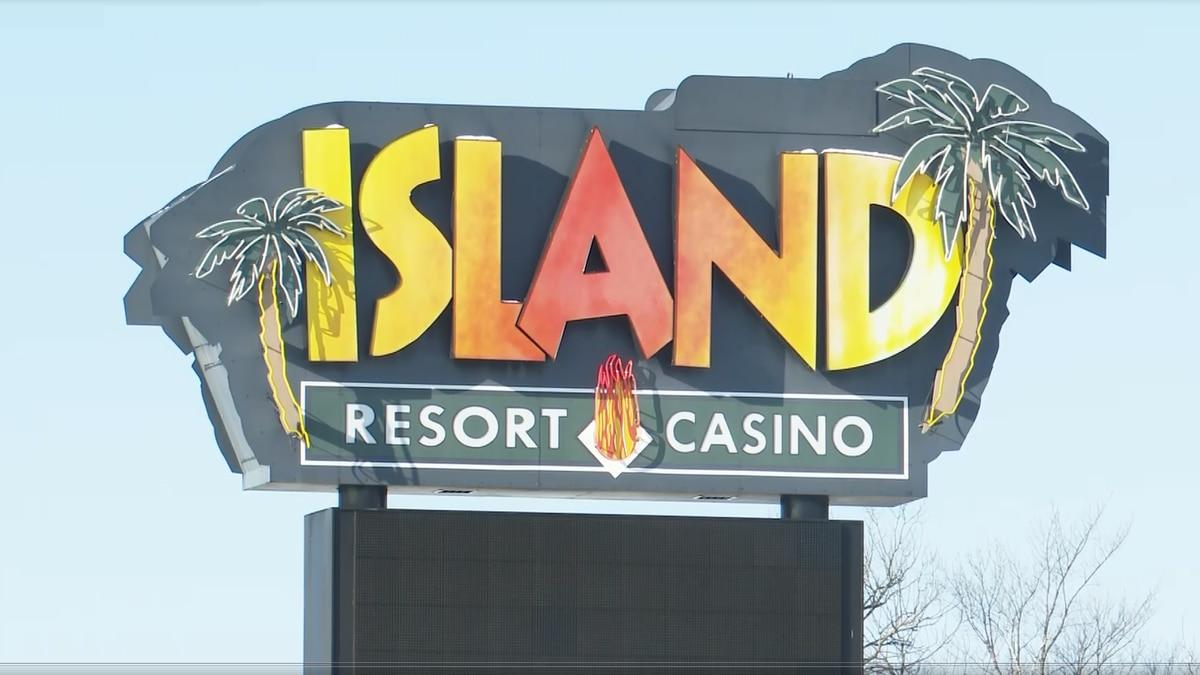 Island Resort and Casino sign. FILE.
