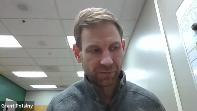 NMU Hockey Head Coach Grant Potulny talks about showing improvement in every game despite not...