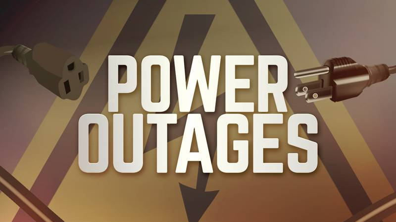 Power outage graphic.