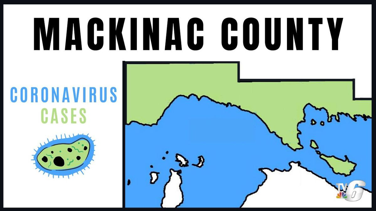 So far, only one case has been confirmed in Mackinac County, Michigan. (Michigan DNR map with WLUC edits in Canva)