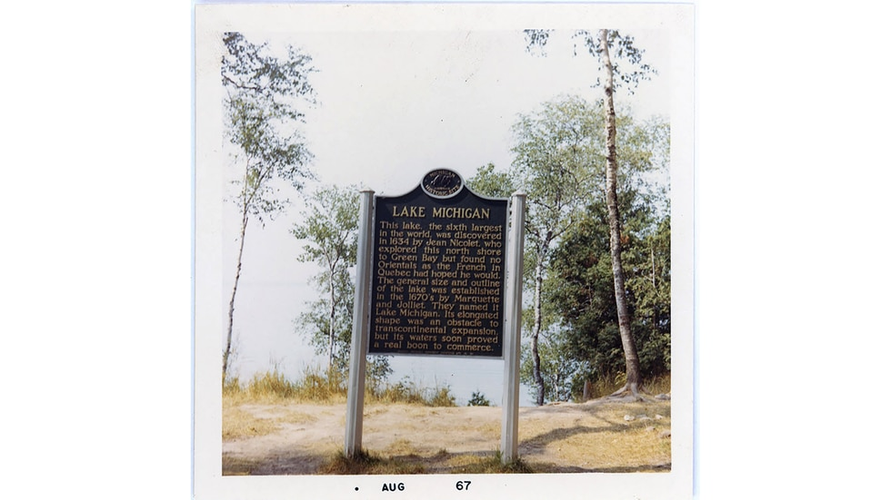 The Great Lakes historical markers, including the Lake Michigan marker, are being rewritten and...