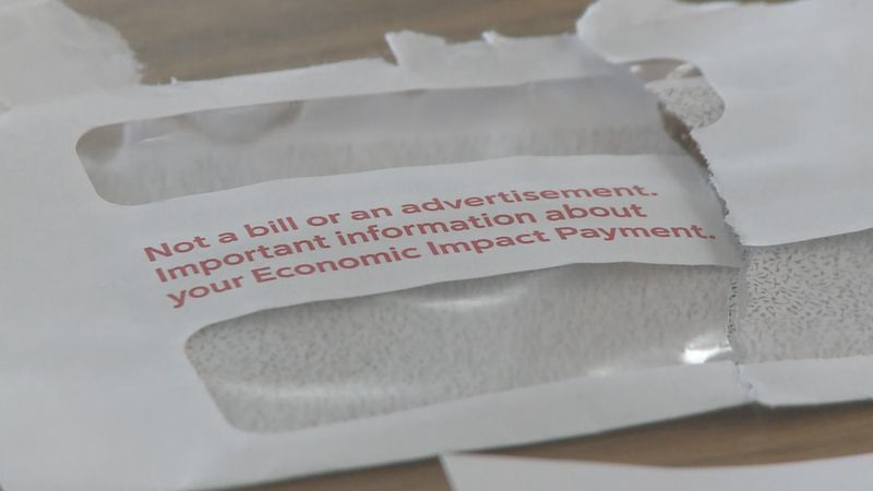 "Fournier's stimulus payment came in an envelope which said, ""Economic Impact Payment."""
