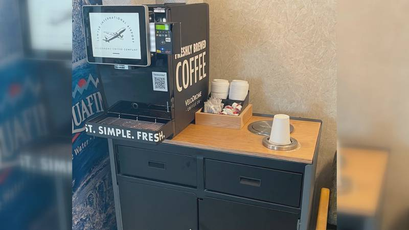 The touch screen brewer offers light and dark roasts, as well as decaf. Photo courtesy of...