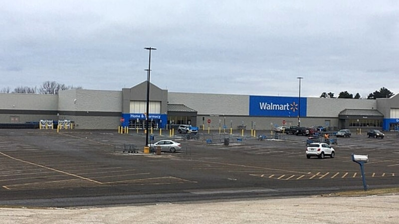 Walmart in Iron Mountain, Mich., as seen on Dec. 17, 2020, when closed.