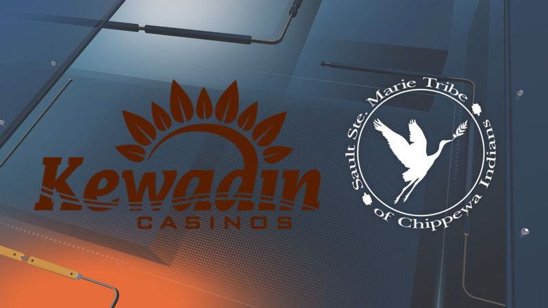(Kewadin Casinos and Sault Ste. Marie Tribe of Chippewa Indians logos)