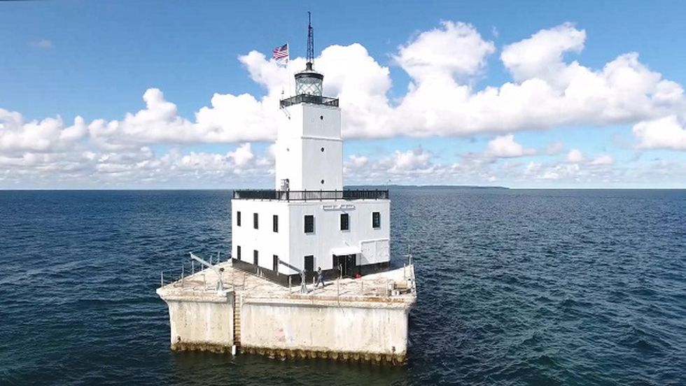 North Manitou Light (photo courtesy of David McWilliam, North Manitou Light Keepers)