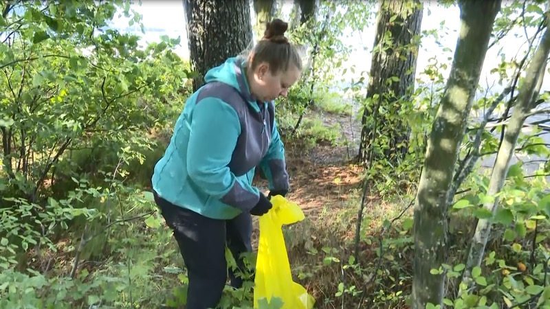 Many people help pick up garbage on trails and beaches for National Public Lands Day