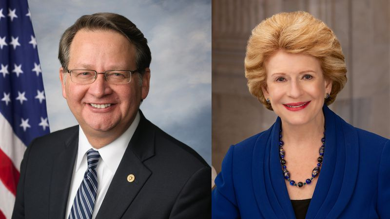 Democrats Gary Peters and Debbie Stabenow are Michigan's two senators.