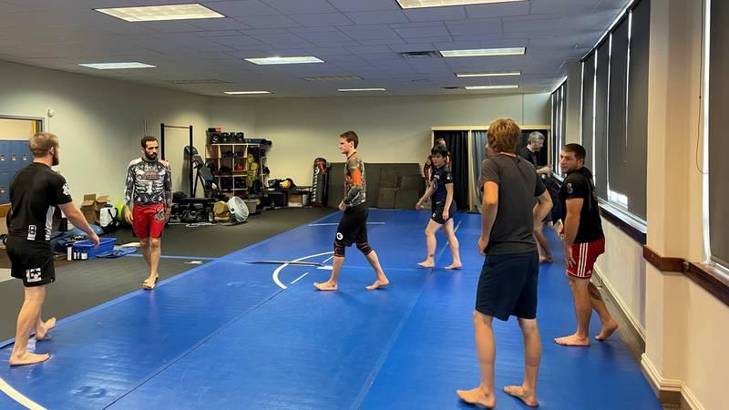 Keweenaw Jiu Jitsu Academy class.