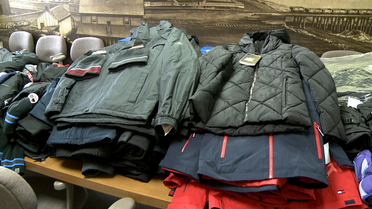 Some of the winter gear purchased thanks to a donation from the Kaufman Foundation