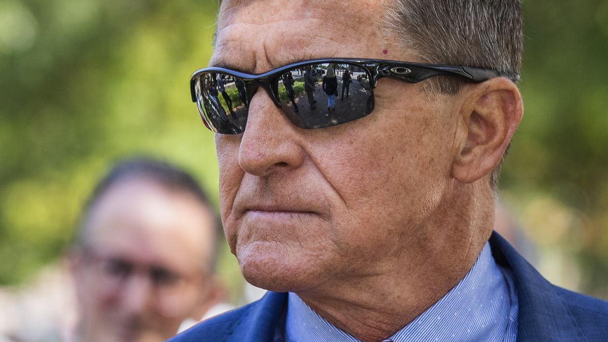 In this Sept. 10, 2019, file photo Michael Flynn, President Donald Trump's former national security adviser, leaves the federal court following a status conference with Judge Emmet Sullivan, in Washington.
