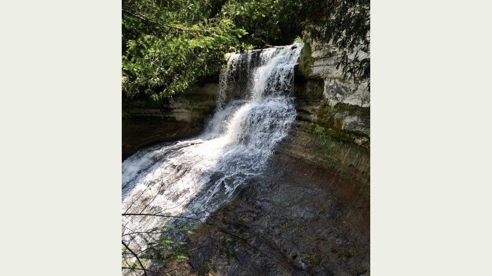 Considered by many to be the most spectacular of Michigan's waterfalls, Laughing Whitefish...