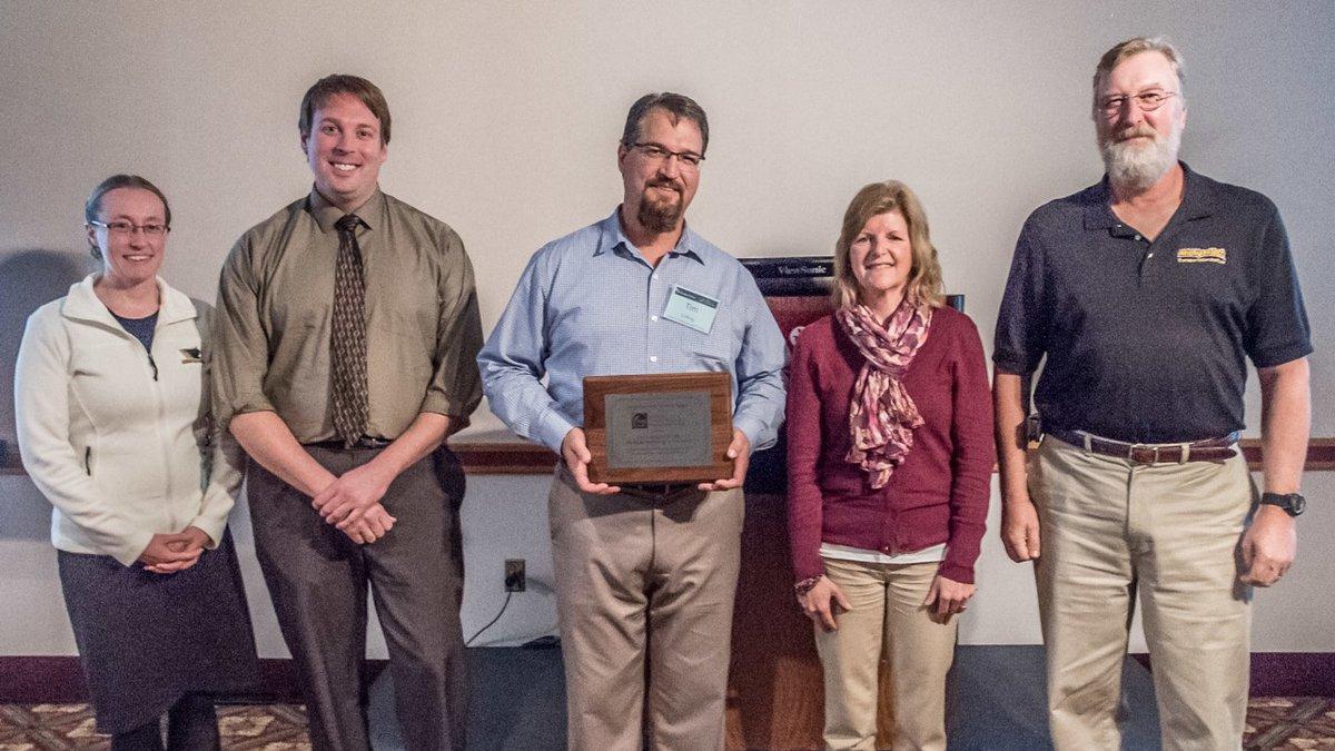 Photo courtesy: TAMC - Tim Colling (center) and CTT Staff: Vicki Sage, Chris Gilbertson,...