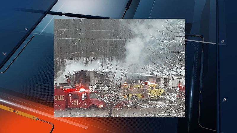 Viewer photo of structure fire in Luce County, MI