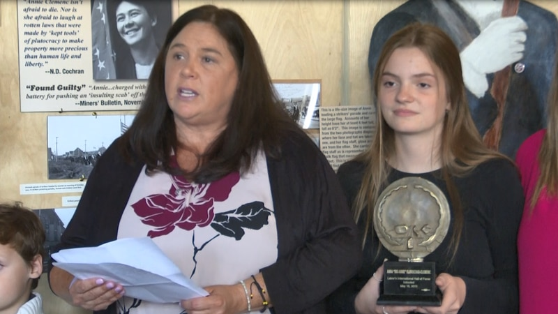 The family gives Coppertown USA Mining Museum Clemenc's 2013 Labor's International Hall of Fame...