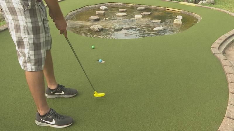 Miners Falls Mini Golf Course in Munising.