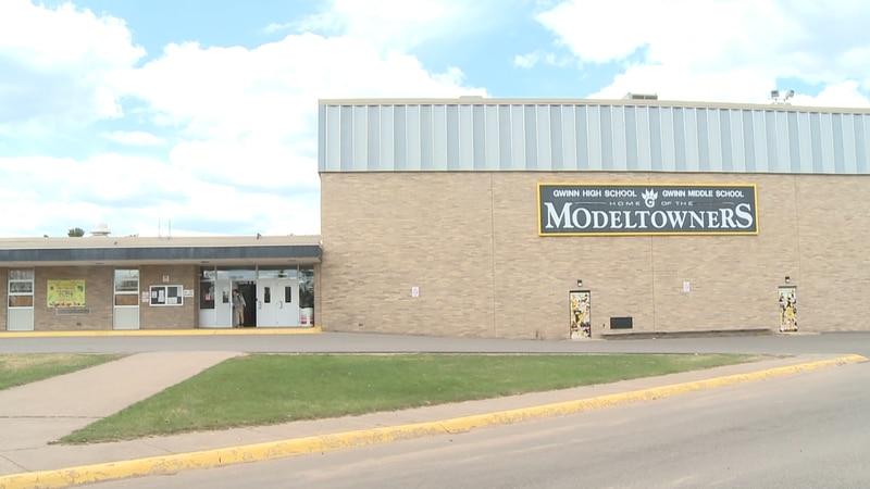 The exterior of Gwinn High School. (WLUC file photo)