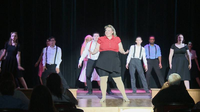 Cast members onstage during the opening number of 'Kiss Me, Kate.'
