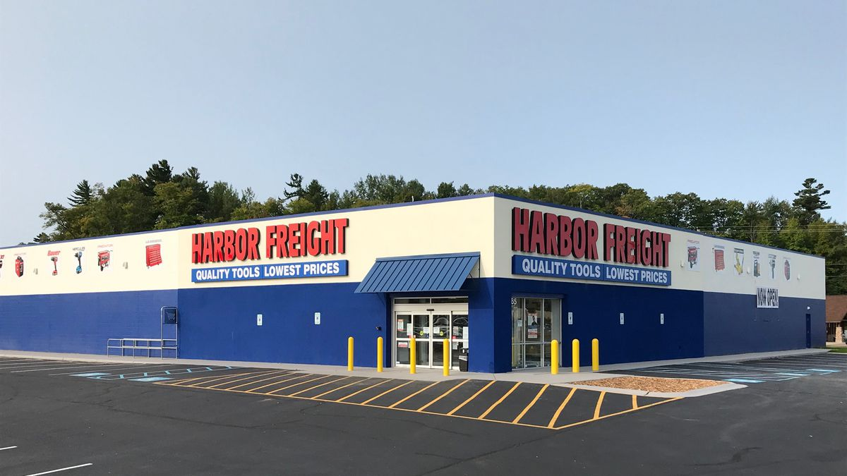 Harbor Freight's Marquette Township location.