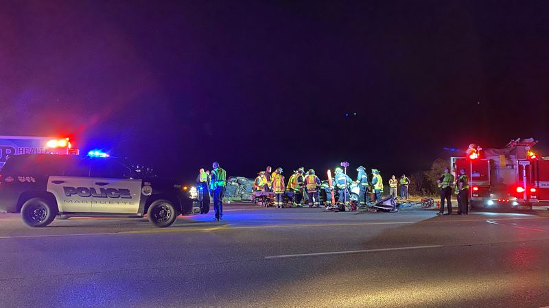 Two vehicles involved in crash on US-41 in South Marquette on Oct. 8, 2020.