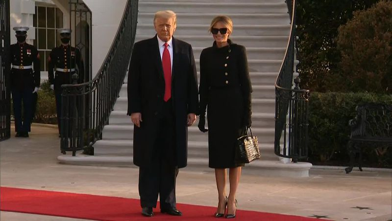 Donald Trump leaves the White House for the last time as the 45th president.